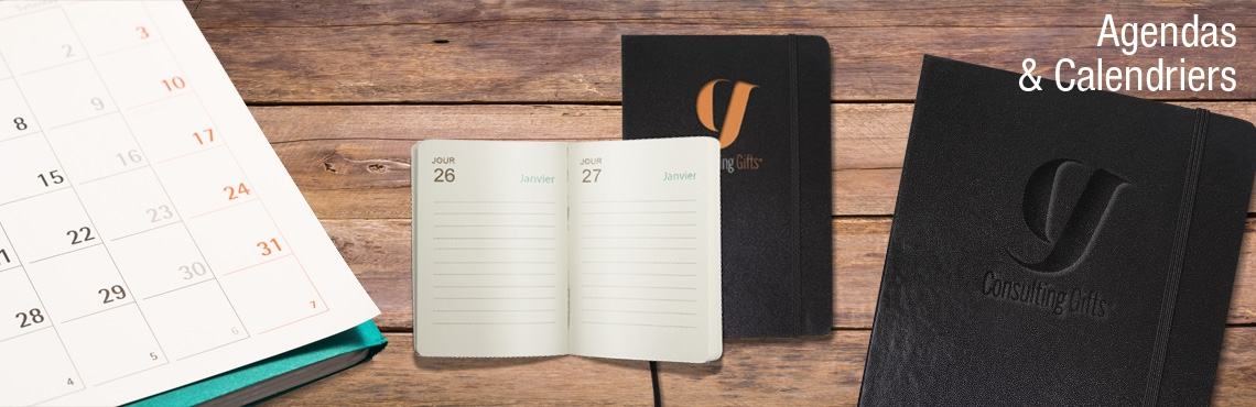 Agenda Calendriers publicitaires par Consulting Gifts